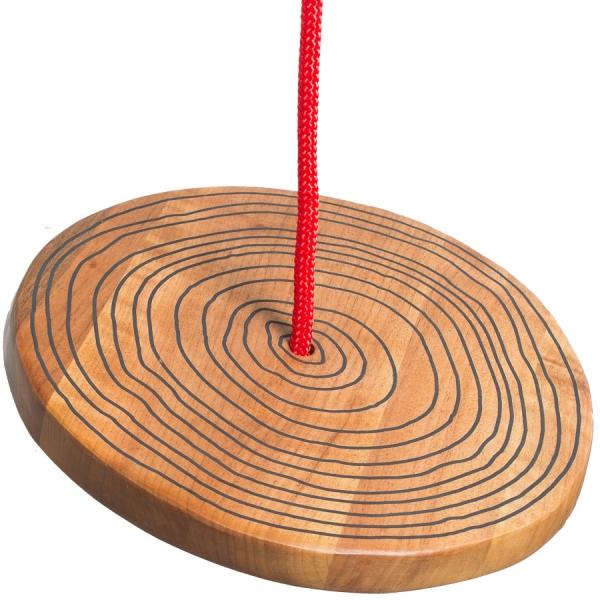 Wooden swing tree log